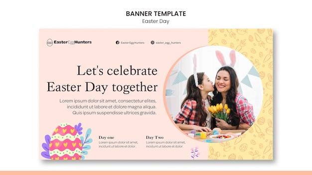Banner do dia da páscoa com foto
