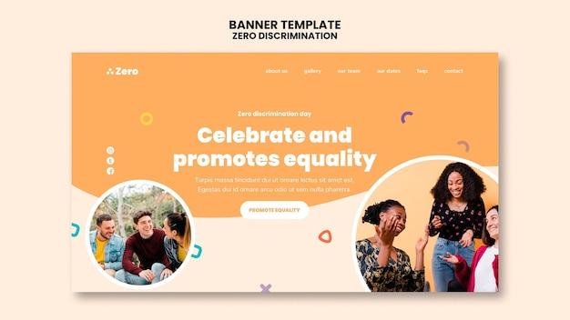 Banner do dia de discriminação zero