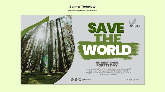 Banner do dia internacional da floresta