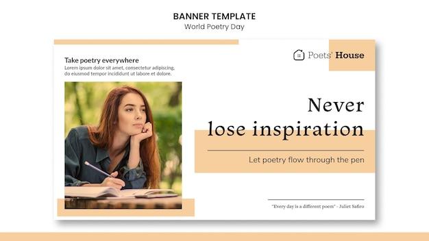 Banner do dia mundial da poesia