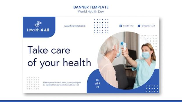 Banner do dia mundial da saúde