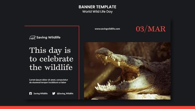 Banner do dia mundial da vida selvagem