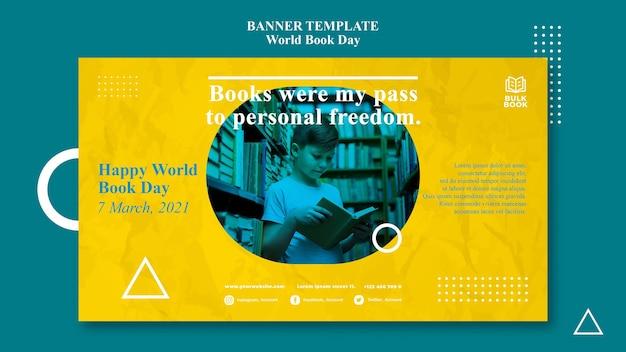 Banner do evento do dia mundial do livro
