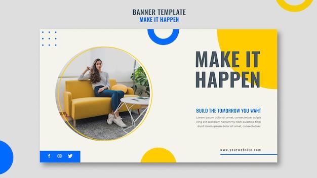 Banner do modelo de anúncio empresarial de memphis