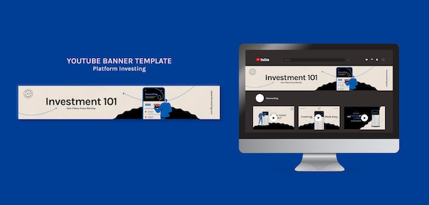 Banner do youtube de investimento em plataforma