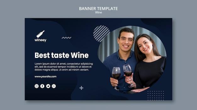 Banner horizontal com casal para vinícola