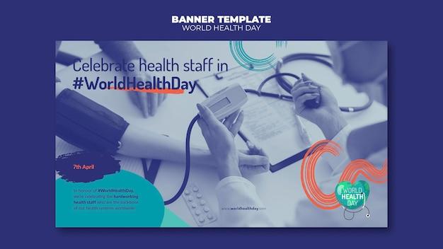Banner horizontal com foto do dia mundial da saúde