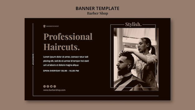 Banner horizontal da barbearia