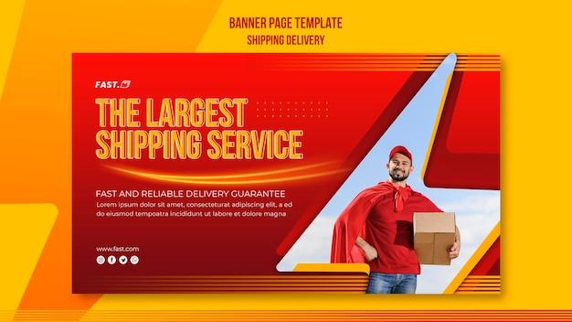 Banner horizontal de entrega de remessa