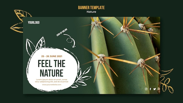 Banner horizontal de evento de natureza
