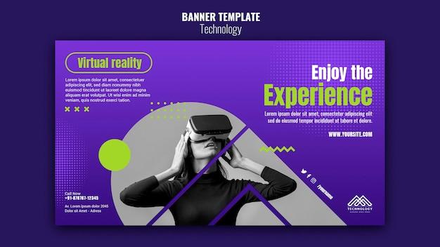 Banner horizontal de inovação de tecnologia
