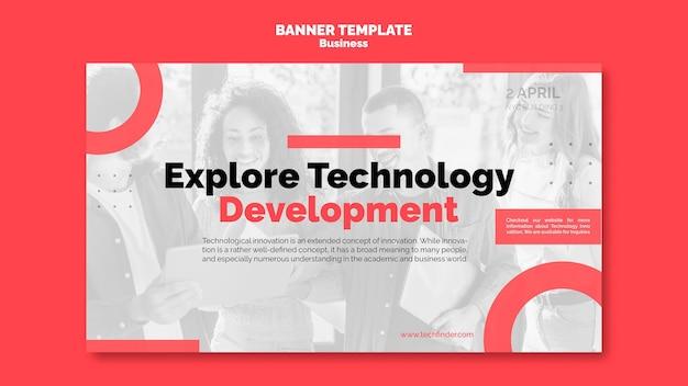 Banner horizontal de inovação empresarial