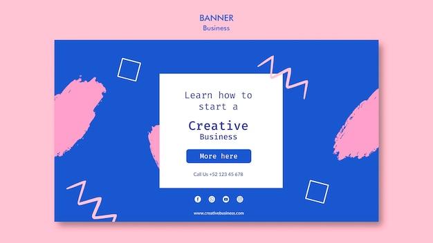 Banner horizontal de negócios criativos