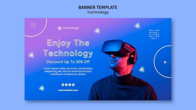 Banner horizontal de realidade virtual