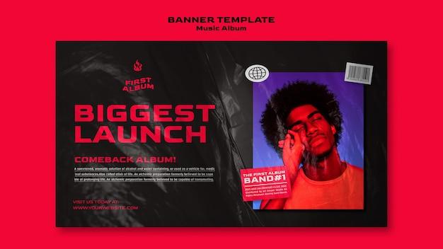 Banner horizontal do álbum de música