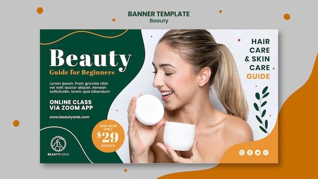Banner horizontal do conceito de beleza