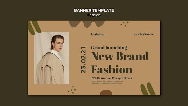 Banner horizontal do conceito de moda