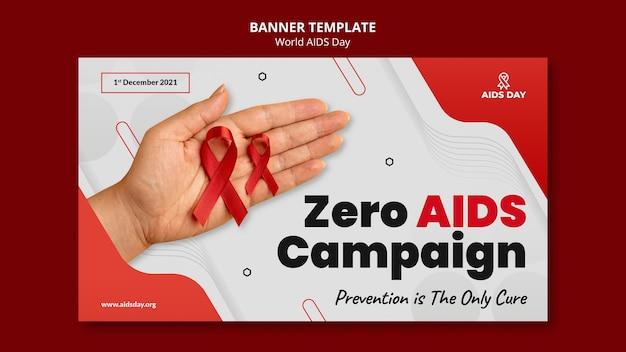 Banner horizontal do dia mundial da aids