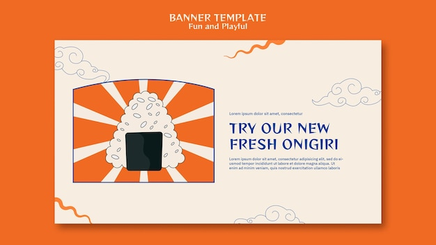 Banner horizontal do sushi bar
