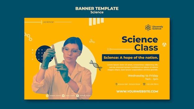 Banner horizontal para aula de ciências