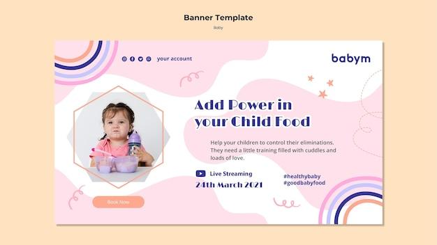 Banner horizontal para bebê recém-nascido