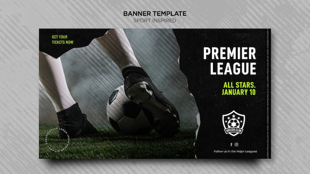 Banner horizontal para clube de futebol