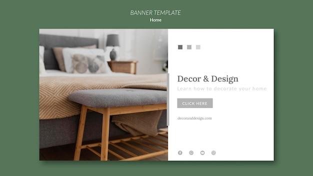 Banner horizontal para decoração e design de casa