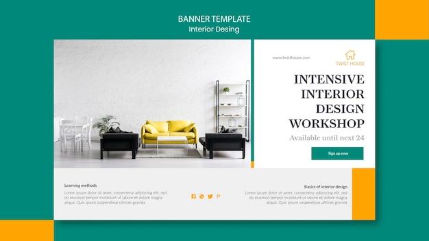 Banner horizontal para design de interiores