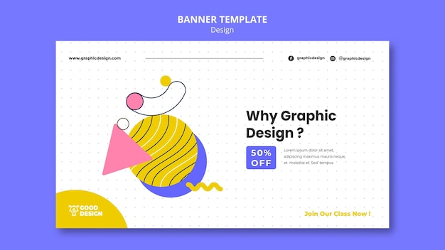 Banner horizontal para design gráfico