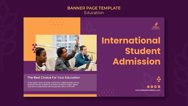 Banner horizontal para educação universitária