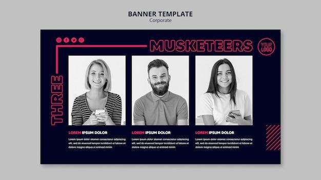 Banner horizontal para equipe de negócios