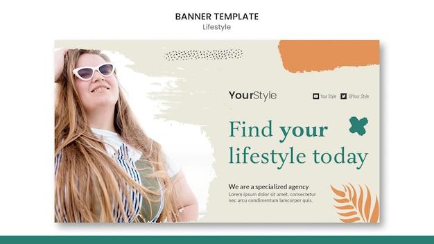 Banner horizontal para estilo de vida pessoal