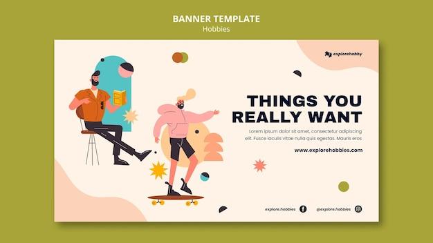 Banner horizontal para hobbies e paixões