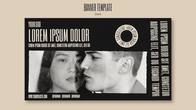 Banner horizontal para nova coleção de moda