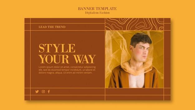 Banner horizontal para o estilo de vida da moda