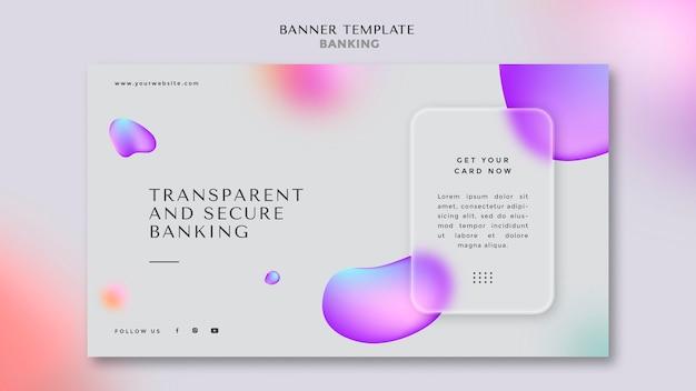 Banner horizontal para operações bancárias transparentes e seguras