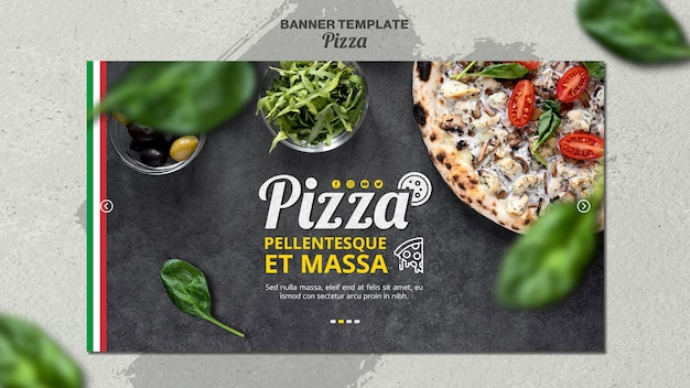Banner horizontal para pizzaria italiana