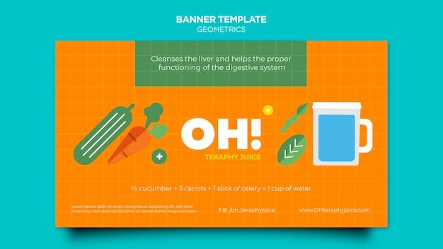 Banner horizontal para receitas de smoothies de frutas