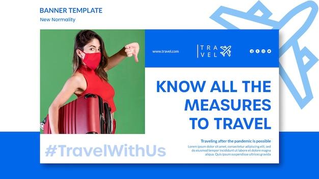 Banner horizontal para reserva de viagens