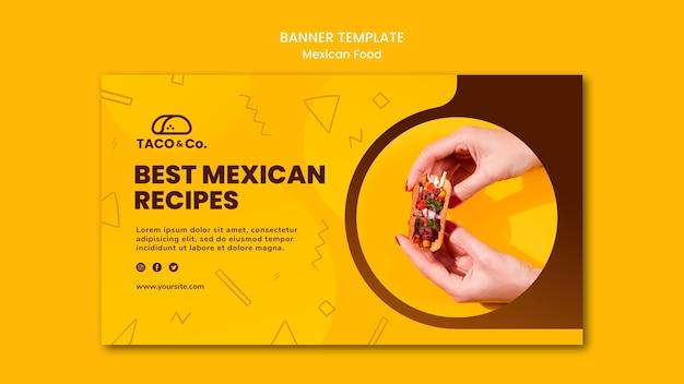 Banner horizontal para restaurante de comida mexicana