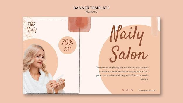 Banner horizontal para salão de manicure