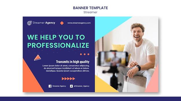 Banner horizontal para streaming de conteúdo online
