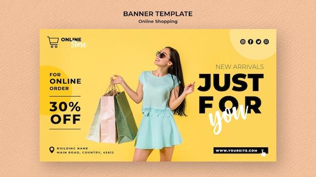Banner horizontal para venda de moda online