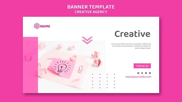 Banner modelo de agência criativa