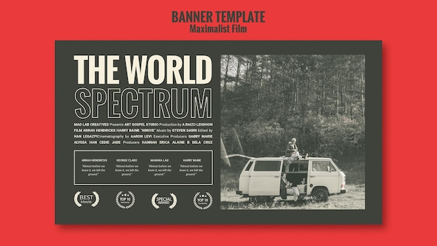 Banner modelo de anúncio de agência interina Psd grátis