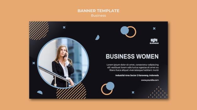 Banner modelo de evento de negócios