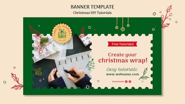 Banner modelo de tutorial de natal para você