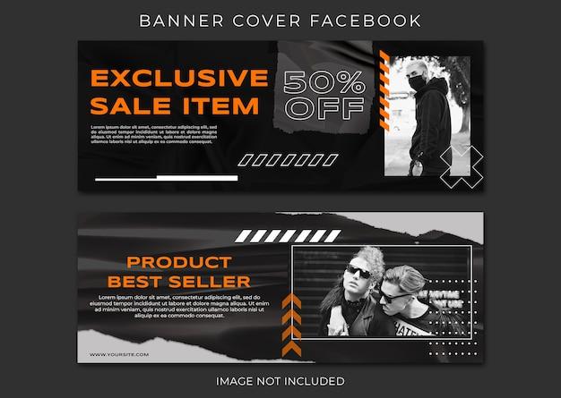 Banner modelo de venda de moda para capa do facebook
