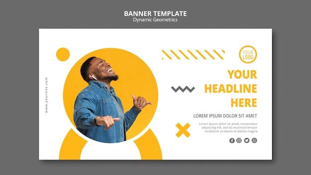 Banner modelo minimalista de negócios