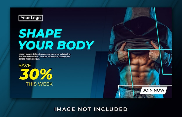 Banner moldar o seu modelo de corpo